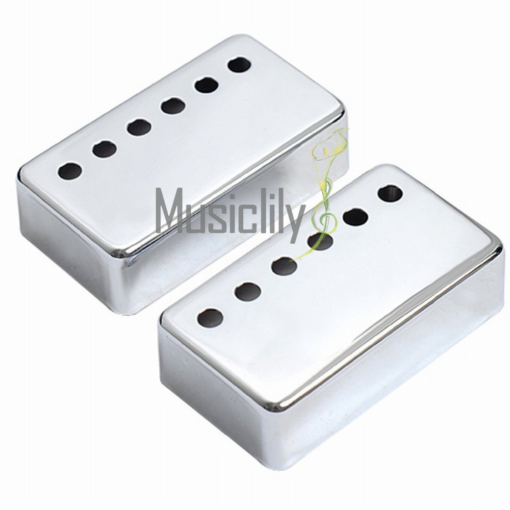 Musiclily Multiple Color Metal Humbucker Guitar Neck Bridge Pickup Covers 50 mm & 52 mm Set for Electric Guitar (Set of 5) guitar pickup humbucker gold double coil pickups electric guitar parts accessories bridge