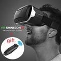 Hot! shinecon ii 2.0 óculos de realidade virtual vr vr óculos google papelão pro versão + controle remoto inteligente bluetooth gamepad