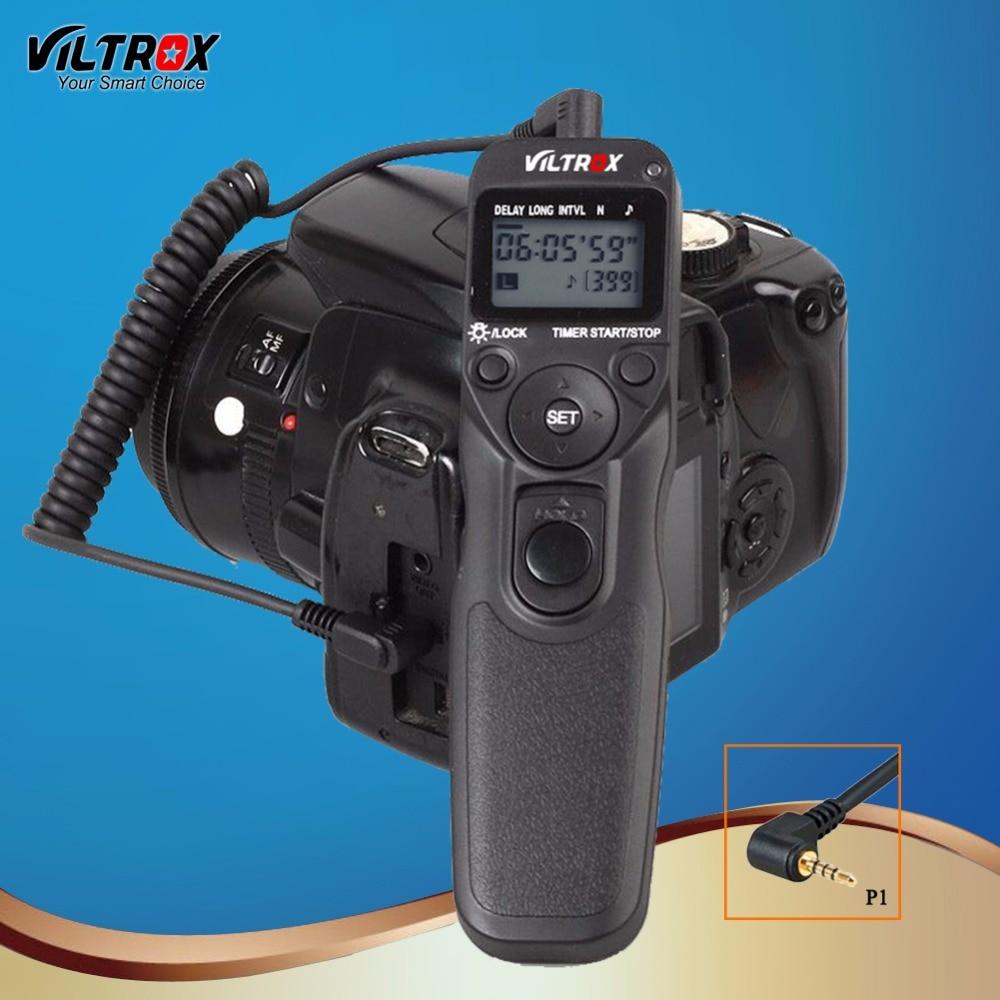 Viltrox MC-P1 LCD Timer Shutter Release Remote Control Wire for Camera Panasonic Lumix DMC FZ20K FZ25 FZ30 FZ50 FZ150 LC1 DSLR 1 lcd wired timer remote switch shutter release for panasonic fz10 15 20 leica more 1 x cr2032