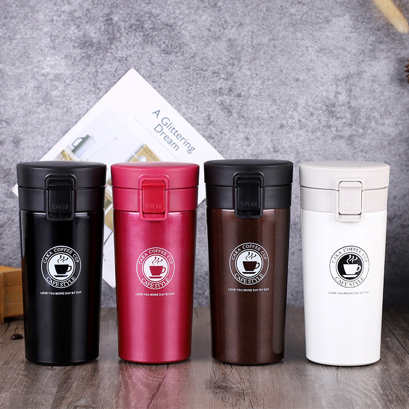 High Quality Double Wall Stainless Steel font b Vacuum b font Flasks Portable Thermo Coffee Tea
