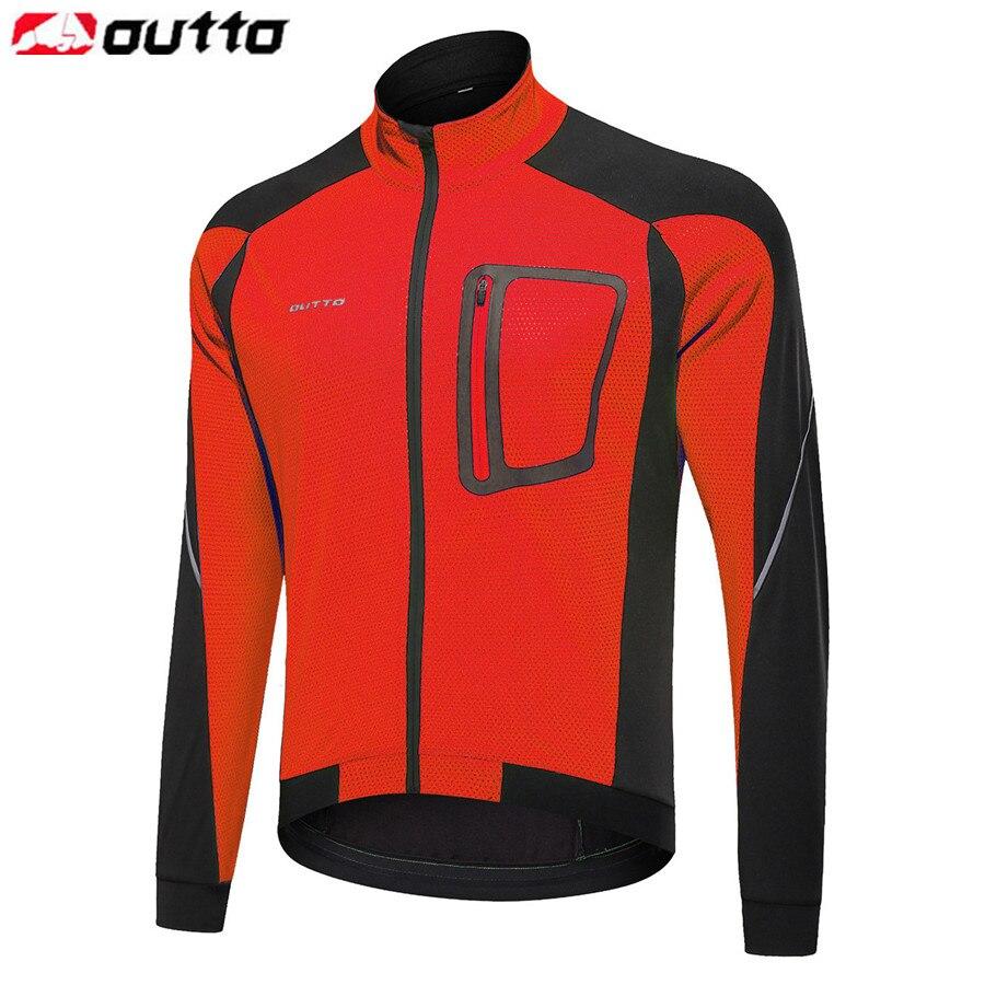 Мужская ветрозащитная теплая велосипедная куртка Outto, осенне зимняя теплая велосипедная Светоотражающая куртка, ветровка, пальто, одежда для горного велосипеда|Куртки для велоспорта| | АлиЭкспресс