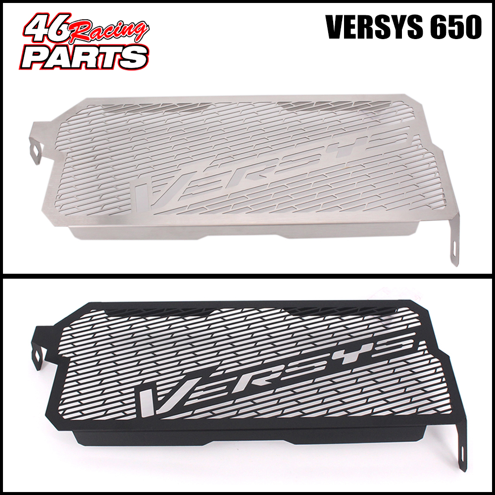 Black/Silver Motorcycle Accessories Radiator Guard Protector Grille Grill Cover For KAWASAKI Versys 650 /KLE650 /Versys650 motorcycle radiator grille grill guard cover protector golden for kawasaki zx6r 2009 2010 2011 2012 2013 2014 2015