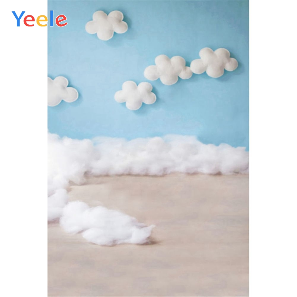 Yeele Cute Cloud Baby Newborn Self Portrait Sweet Photography Backgrounds Personalized Photographic Backdrops For Photo Studio
