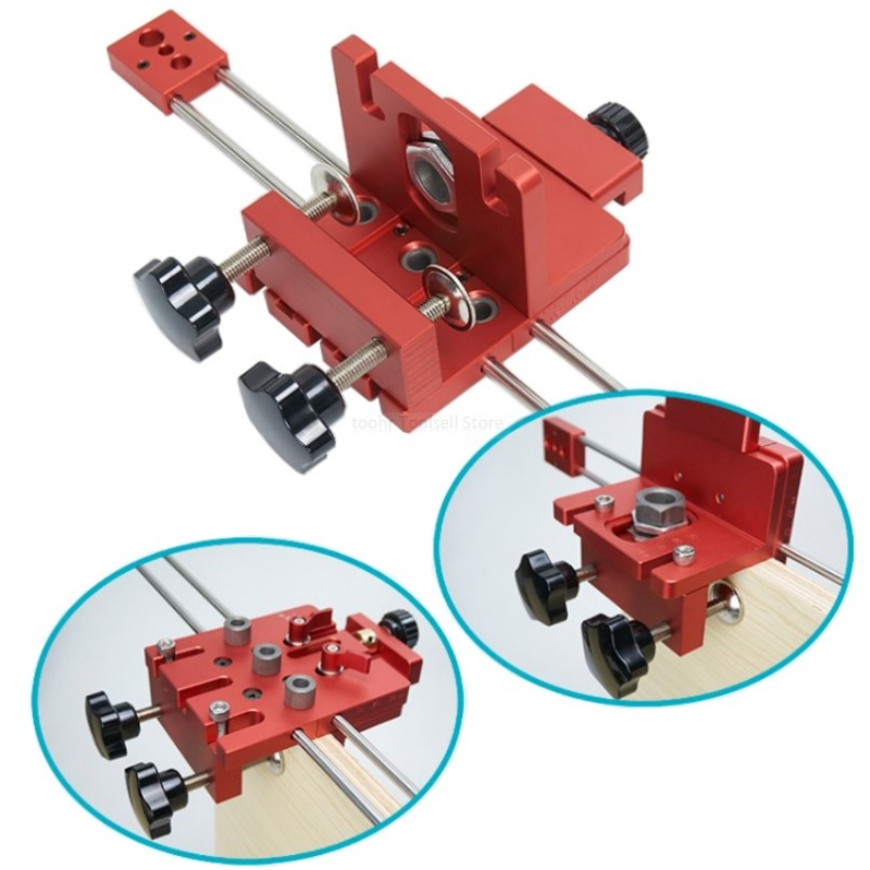 6/8/10/15mm carpintaria auto centralização encavilhar gabarito 3 em 1 guia de broca localizador kit para móveis conexão rápida cam montagem