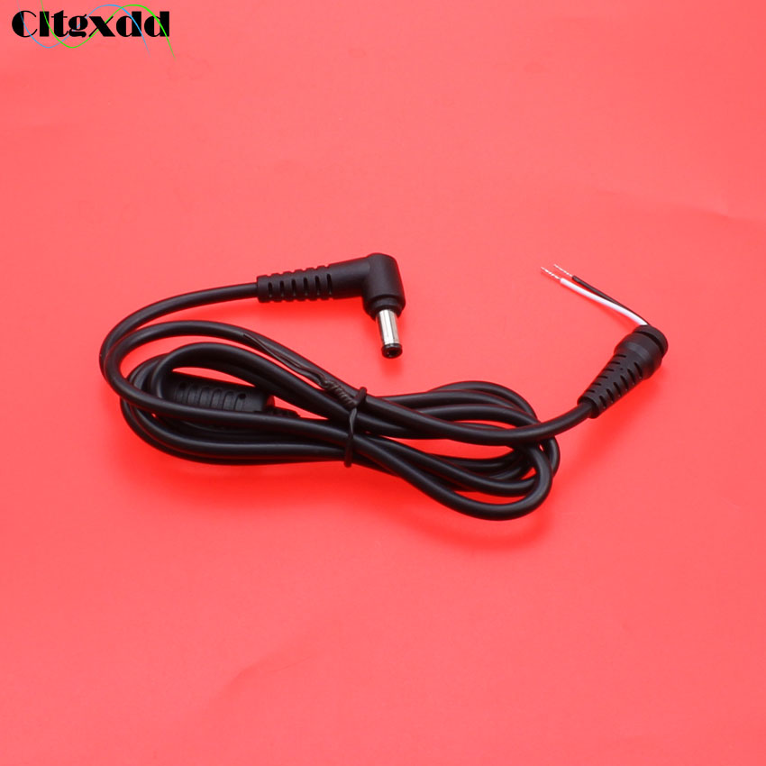 cltgxdd DC Power socket interface 5.5X2.5mm Male Tip Plug Connector With Cable For Toshiba Asus Lenovo Laptop Adapter, 5.5/2.5mm