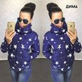 Womens Winter Jackets And Coats 2016 Sell Winter Fashion Printing Brief Paragraph Cotton-padded Clothes Woman Warm In The Stars