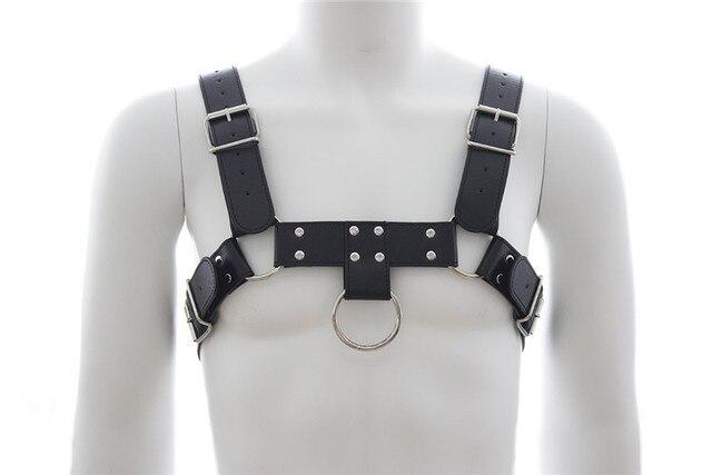 Adults Games Faux Leather Harness Men Black Fetish Sex Bondage Restraint Male Slave Strap Belt Sexy Lingerie Sex Products