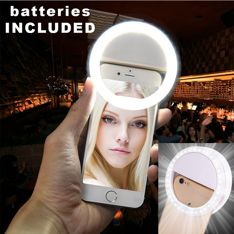 super popular cc5af 2f906 US $4.49 10% OFF|Aliexpress.com : Buy Selfie LED Flash Light Ring Cove  Phone Case For iPhone 6 7 8 X For Samsung S8 note8 Xiaomi Huawei Phone  Cover ...