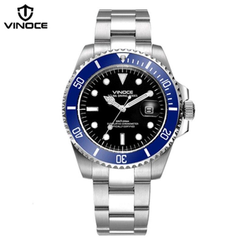 200 metrów wodoodporne zegarki nurkowe ze stali nierdzewnej sport - Męskie zegarki - Zdjęcie 2