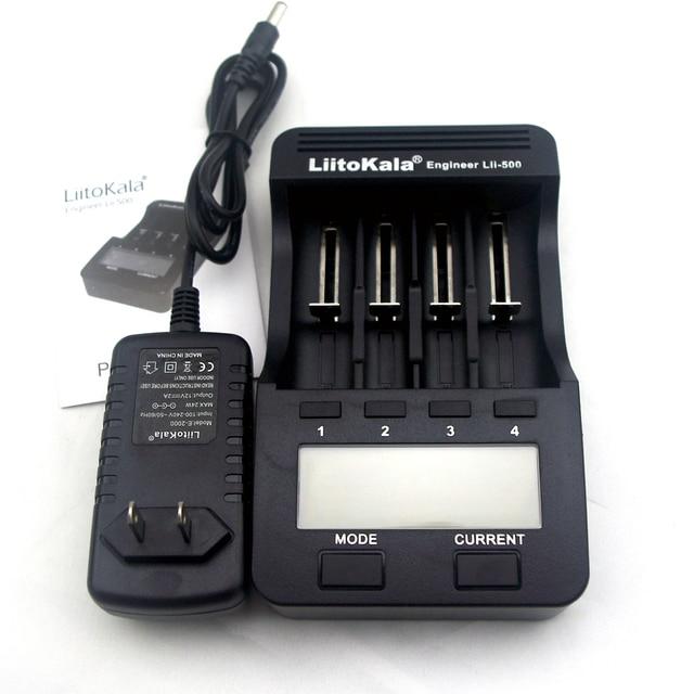 Lcd novo lii-500 liitokala carregador 3.7 v 18650 18350 26650 10440 14500 18500 17500 1.2 v de lítio aa aaa nimh carregador de bateria