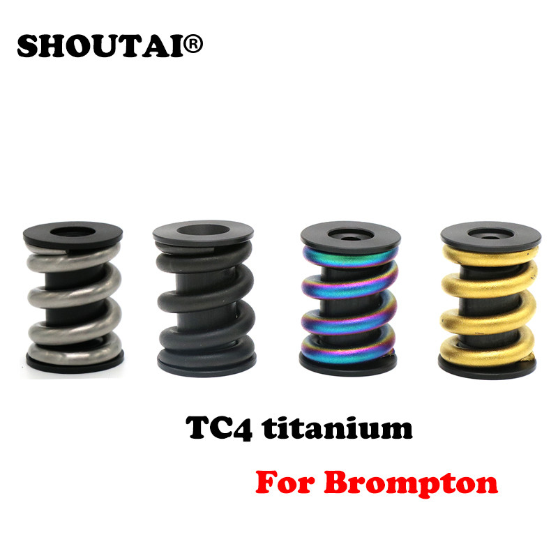 Bicycle Titanium Alloy Spring Rear Shock Absorber for Brompton Bike parts fid closed damping ball group rod shock absorber cap for lt 5t 1 set