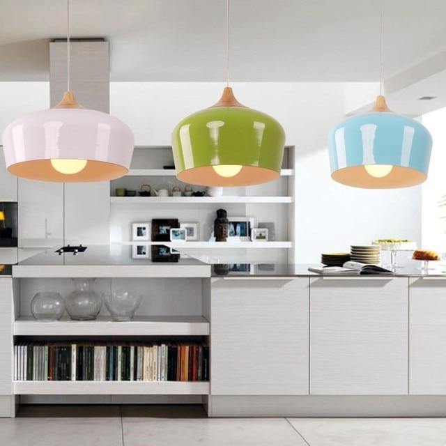 Moderne hanglamp Küche Licht Holz Anhänger Beleuchtung Multi Farbe ...