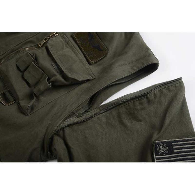Новая военная Мужская s 101 куртка-пилот с отстегивающимся капюшоном рукавом мужская повседневная куртка пальто Мужская брендовая куртка с карманами одежда 4XL BF657