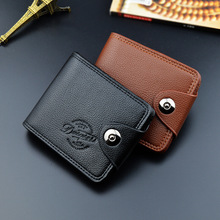 Men Wallets Fashion Mens Wallet with Coin Bag Zipper Small Money Purses Dollar Slim Purse Money Clip Wallet Buckle wholesale 372