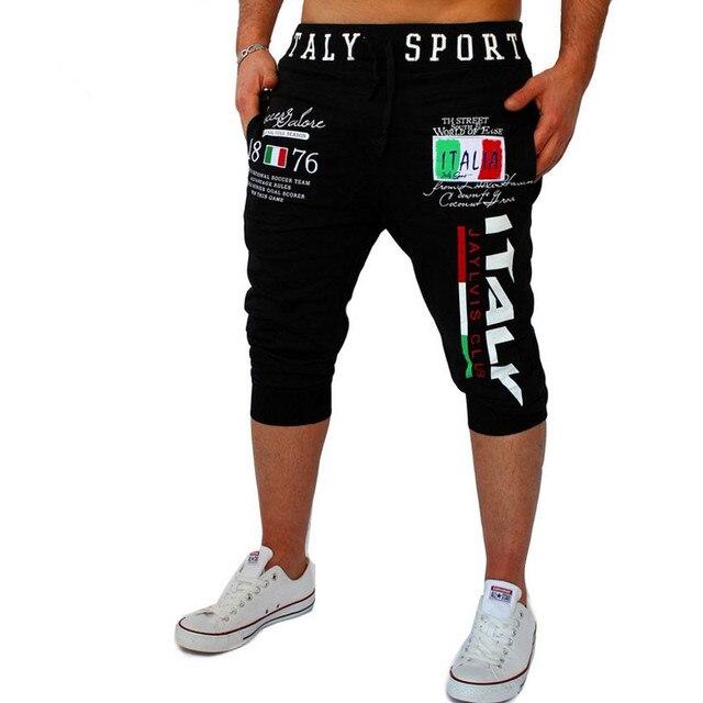090e6a670 Pantalones cortos Para Hombre de Medias de Compresión Bermudas Cortas  Italia Diseño de Impresión Hombres del