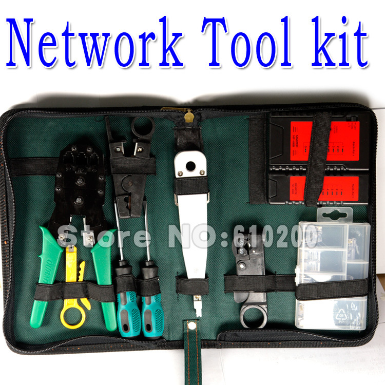 Freeshipping 10 in1 network tool kit network cable tester for Canape network testing tool