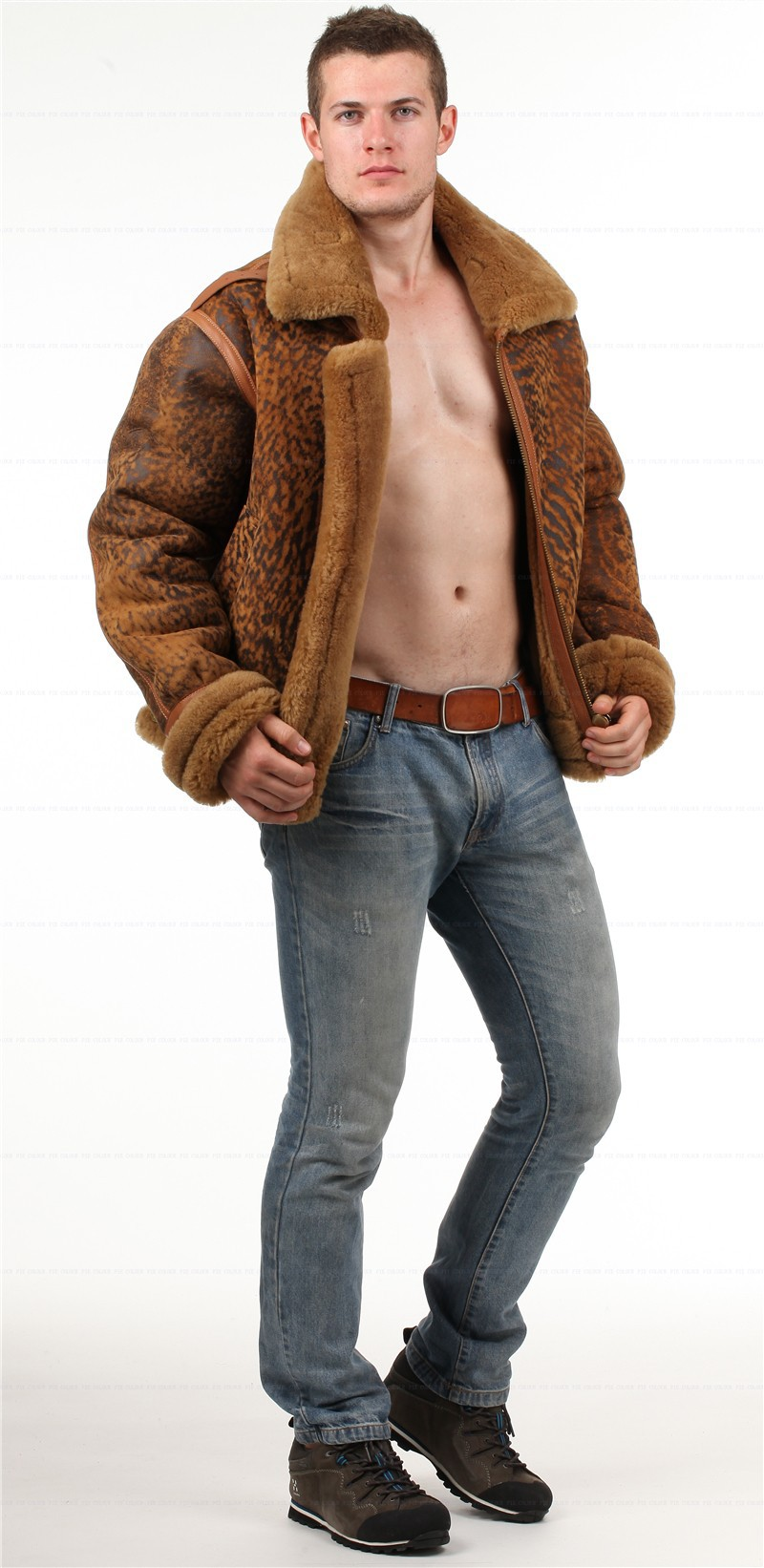 shearling giacca Pelle Ultimo 5