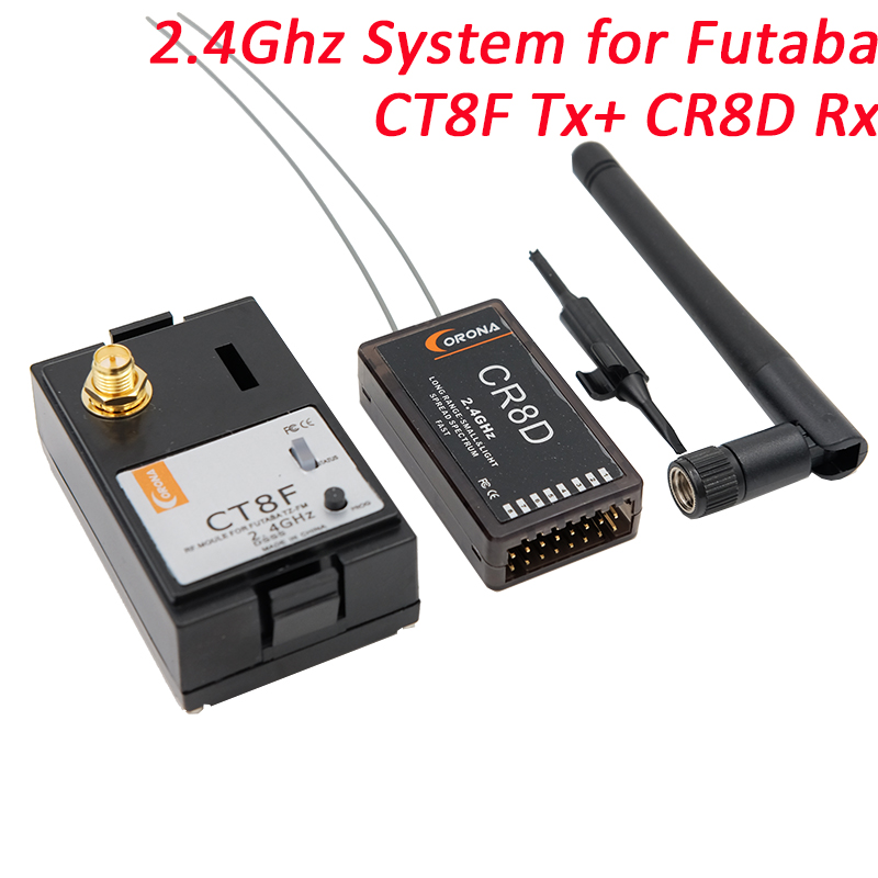 Corona 2.4 Ghz FUTABA/Modulo HITEC e Rx Combo Kit CR8D e CT8F (V2 DSSS)Corona 2.4 Ghz FUTABA/Modulo HITEC e Rx Combo Kit CR8D e CT8F (V2 DSSS)