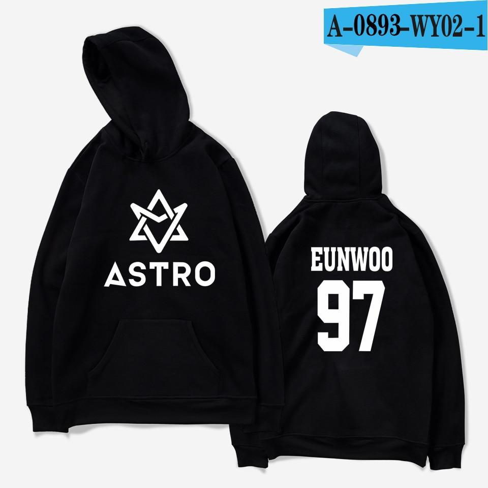LUCKYFRIDAYF 2018 ASTRO Kpop Hoodies Moletom STAR Group Spring Women/Men Harajuku Sweatshirt Casual Hoodie Men/Women Clothing 22