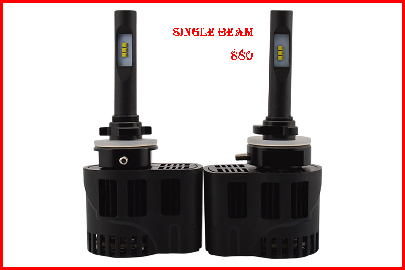 ФОТО 1 Set 880 50W 6400LM P6 Auto LED Headlight Mini Size ALL IN ONE LUMILED LUXEON ZES CHIPS 12/24V 3000K 4300K 5000K 6000K CANBUS