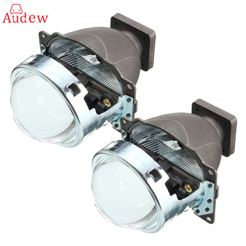 2x 3Inch Projector Lens 3 Inches H4 H9 9006 Q5 Bi-xenon For HID Headlight Projector Lens H/L Beam LHD For H11 Car Headlamp hella projector lens aluminum 3 0 inches bi xenon car hid headlight modify d1s d2s d3s d4s reflector high low beam universal
