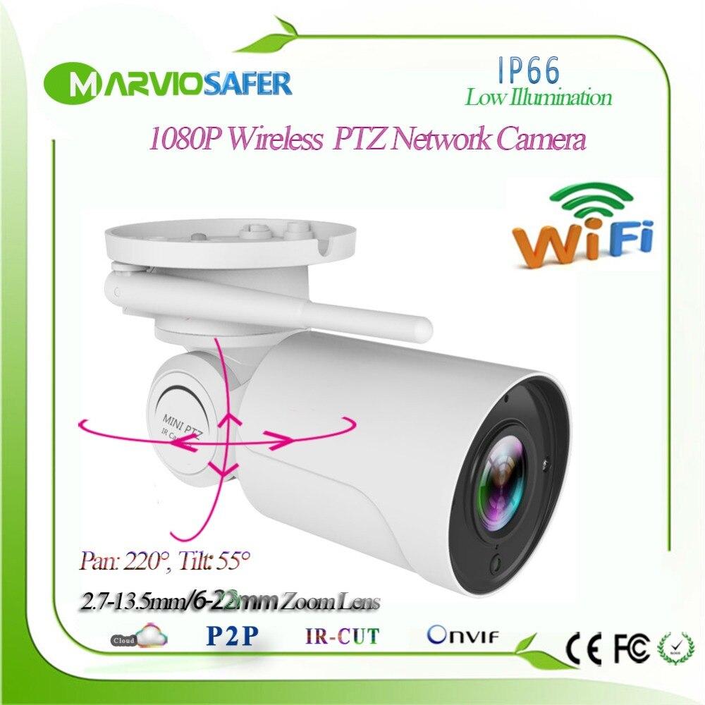 Hi3516C 1080P 960P Bullet Waterproof PTZ Wireless IP Camera 2.7-13.5mm 5X Zoom Motorized Lens Onvif RTSP TF Card Recording RTSP