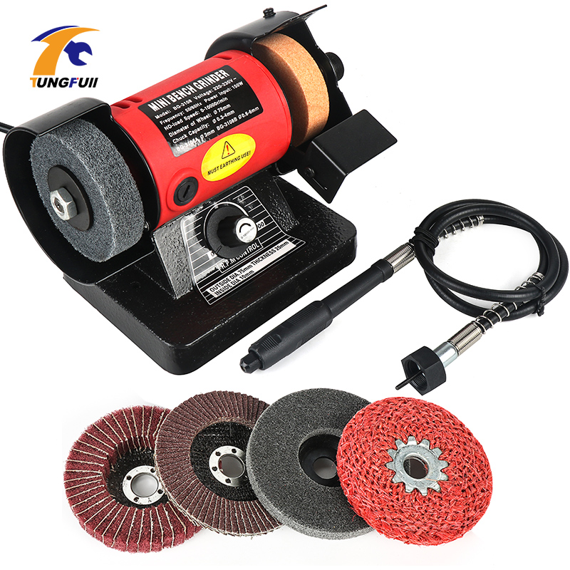 Tungfull Bench Versatility Grinder Table Saw Grinding Polishing Cutting Grinder Machines For Wood Metal Electrical Tools