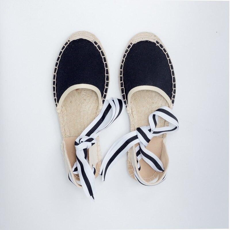 2017 Primavera Zapatos de Lona alpargatas Mujeres Flat Ankle Low Hemper Tobillo