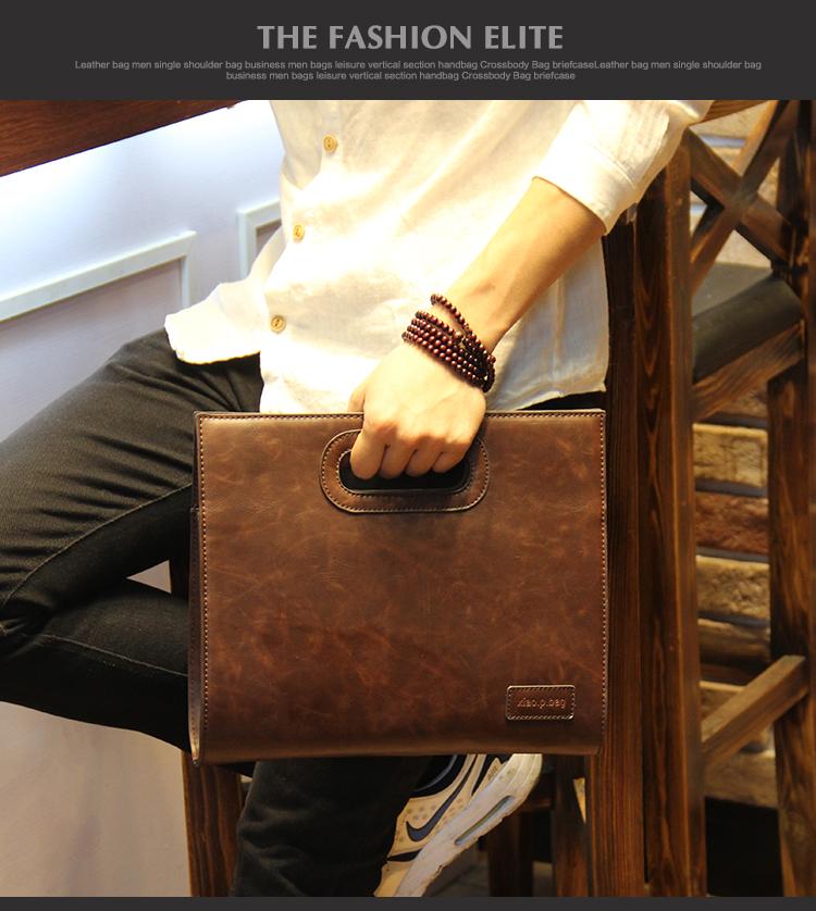 Business Casual Men Leather Designer Handbag High Quality Male Wallet Famous Brand Men's Large Capacity Clutch Bag Brown black 68