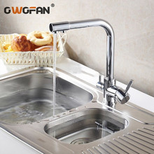 Free Shipping Chrome Kitchen Sink Mixer Tap Brass swivel Faucet Vessel faucet mixer torneira cozinha HJ-0175