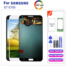 Amoled per Samsung E7 E700 Display Lcd Touch Screen Digitizer Assembly per E7 E700 E700M E700F E700H Display Lcd con strumenti