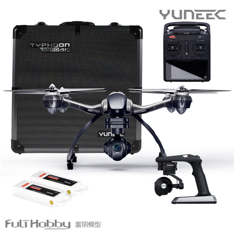 Typhoon Quadcopter Drone Racking Drone Yuneec Q500 4k 3-Axis Gimbal Camera Steady Grip Deluxe Case with 16GB Card Remote Control