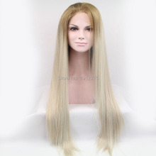 new arrival straight hair weave ombre synthetic wig lace front wigs for american women heat resistant free shipping