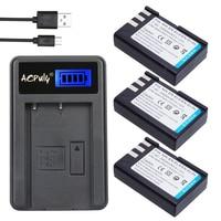 3Pc Batteries 7.4V 2400mAh EN EL9 EN EL9 ENEL9 Recharger battery + USB Charger for Nikon EN EL9a D40 D40X D60 D3000 D5000 Camera