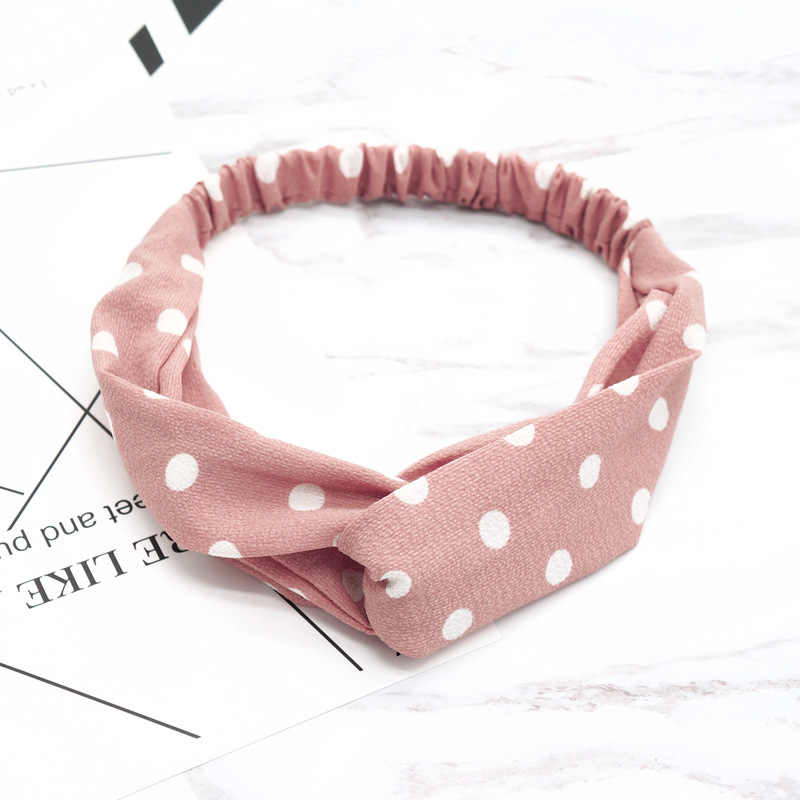 Women Hair Accessories Literary Wave Point Headbands Fashion Round Dot Headwear Girls for Bath Makeup Hair Band New Head Band