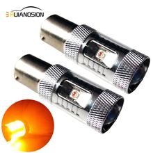 2pcsx 30/60/80W AC12-24V 1156 BA15S P21W Super Bright CREEXB-D LED Car Tail Brake Bulbs Auto Reverse Lamp Daytime Running Light стоимость