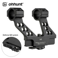 ohhunt AK Side Rail Scope Mount with Integral 25.4mm 30mm Ring Elite Defense Quick Detach System For AK47 AK74 Black