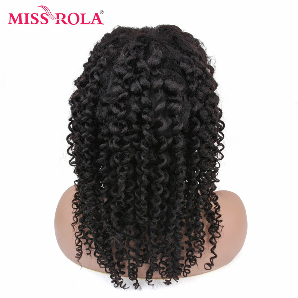 MISS ROLA Kinky Curly Short Lace Front Wig Peruvian Remy Hair Lace Front Human Hair Wigs