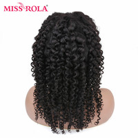 MISS ROLA Kinky Curly Short Lace Front Wig Peruvian Remy Hair Lace Front Human Hair Wigs For Women Pre Plucked With Baby Hair