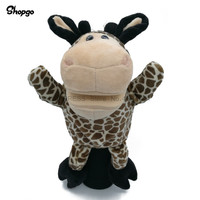 Mini Giraffe Golf Driver Headcover Cartoon Animal Golf Wood Cover Sport Accessories Mascot Novelty Cute Gift