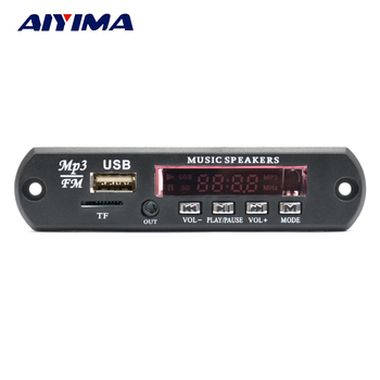 AIYIMA 2,0 канал Bluetooth усилитель совета Стерео 10 Вт * 2 MP3 декодер Поддержка FM APE MP3 WAV WMA USB звуковая карта приложение 12 V >> AiyimaTechnology Store