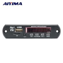 AIYIMA 2,0 канала Bluetooth усилитель платы стерео 10 Вт * 2 MP3 декодер поддержка FM APE MP3 WAV WMA USB звуковая карта APP 12 В