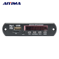 Aiyima Deux-canal Bluetooth Amplificateur Conseil MP3 Décodeur Soutien FM APE MP3 WAV WMA USB Carte Son APP 10 W + 10 W 12 V Puissance fournir