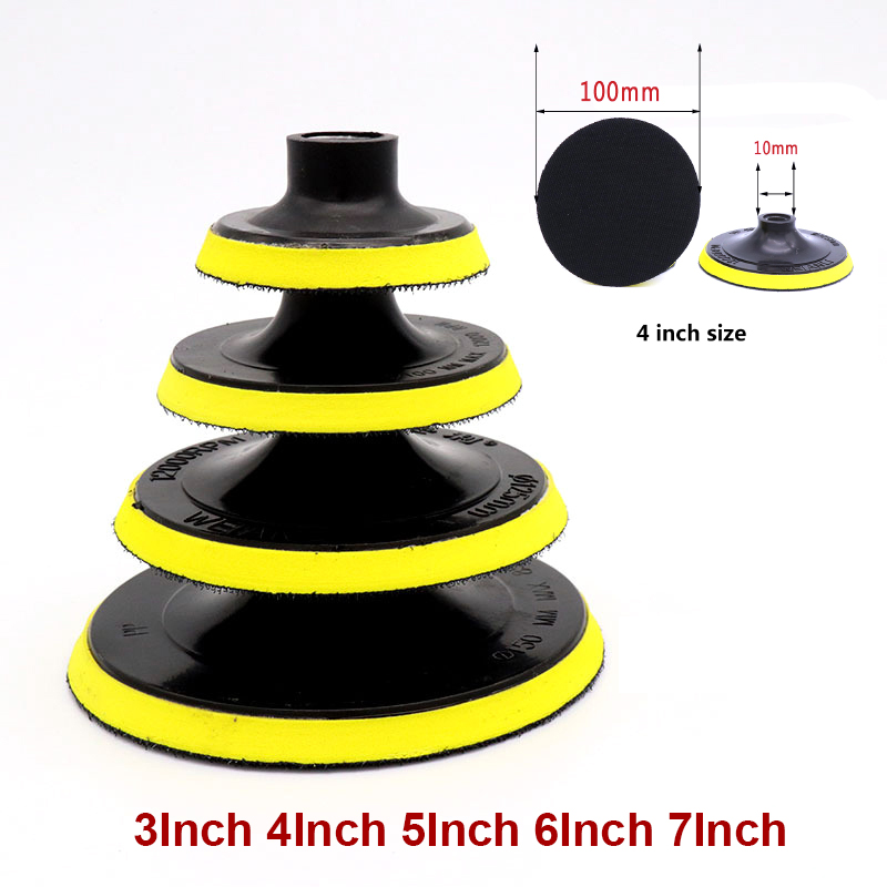 3' - 7' Inches Polishing Disc Suction Cup Self-adhesive Sticky Disk Sandpaper Sucker For Electric Grinder Polish & Drill Rod