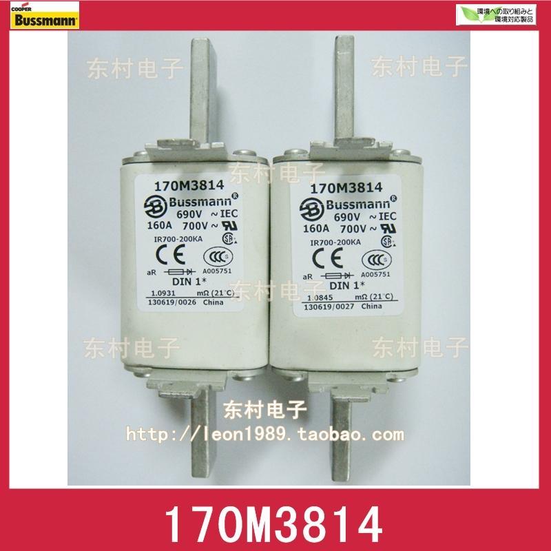 US BUSSMANN Fuse 170M3814 170M3814D 160A 690V / 700V fuse
