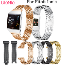 Aluminium Alloy business strap For Fitbit Ionic Fashion/Classic Fish scale Watchband smart watch wristband