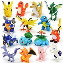 7.5-12cm Pokeball Figures Cute Mini Pikachu Figures Monster Model Toys Random Brinquedos Collection Anime Kids Toys