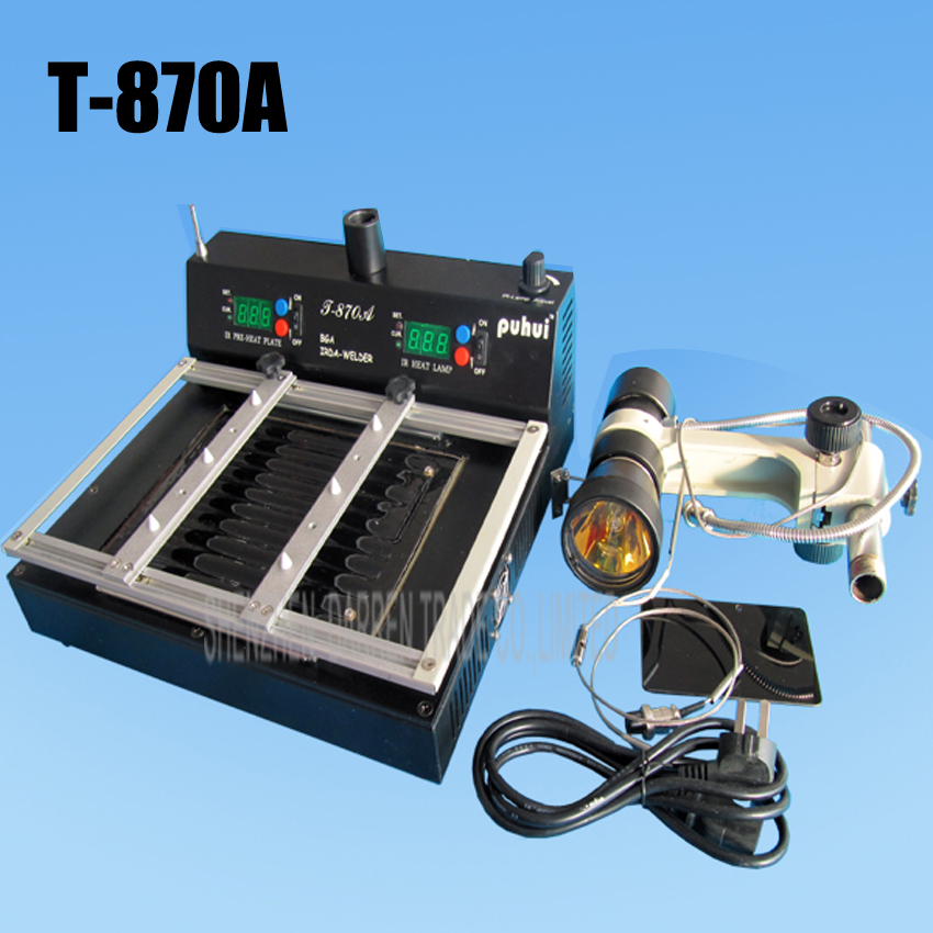1PC High quality T 870A Infrared BGA Rework Station IRDA Soldering Welder 35 50 mm CSP LGA QFP PLCC BGA Ball Rework