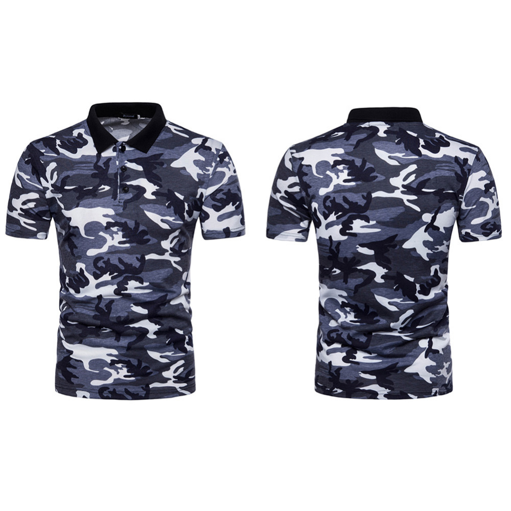 Men Clothing Camo Shirt Men 2018 Summer Casual Short Sleeve Camouflage Print Breathable Shirt Camisa 4 Color