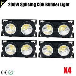 Łączenie 2 światła Led Blinders z 100w LED COB x2 Amber + zimny biały kolor dla publiczności oślepiający kolor ciepły w Oświetlenie sceniczne od Lampy i oświetlenie na